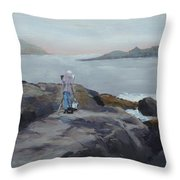 Painter Of The Sea - Art By Bill Tomsa Throw Pillow