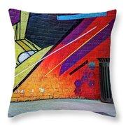 Painterly 5 Throw Pillow