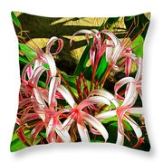 Painterly Effects Throw Pillow