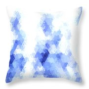 Painterly Geometric Abstract Throw Pillow