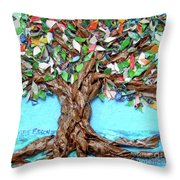Painters Palette Of Tree Colors Throw Pillow