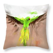 Painting 661 1 Bird 8 Throw Pillow