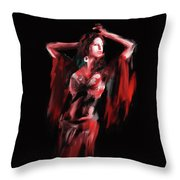 Painting 703 3 Dancer 8 Throw Pillow