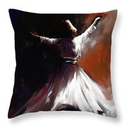 Painting 716 1 Sufi Whirl II Throw Pillow