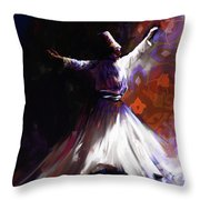 Painting 716 2 Sufi Whirl 2 Throw Pillow