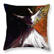 Painting 716 3 Sufi Whirl 2 Throw Pillow