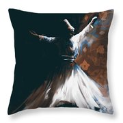 Painting 716 4 Sufi Whirl 2 Throw Pillow