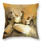 Painting 717 1 Sufi Whirl 3 Throw Pillow