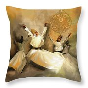 Painting 717 2 Sufi Whirl 3 Throw Pillow