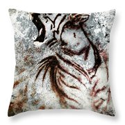 Painting Abstract Tiger Collage On Color Abstract  Background  Rust Structure Wildlife Animals Throw Pillow