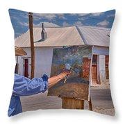 Painting Barrio Viejo Throw Pillow