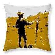 Painting Cowboy Throw Pillow