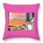 Painting Day Throw Pillow