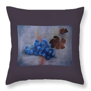 Painting Grapes Throw Pillow