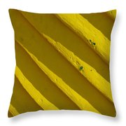 Painting It Yellow Throw Pillow