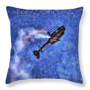 Painting Of Airbus Ec-120b Helicopter Throw Pillow