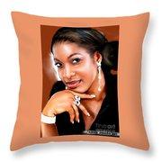 painting of chika Ike Throw Pillow
