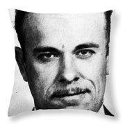 Painting Of John Dillinger Mug Shot Throw Pillow
