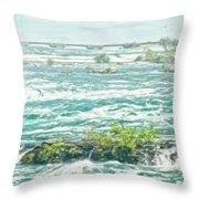 Painting Of Niagara Falls Throw Pillow