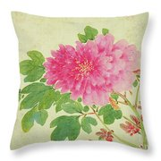 Painting Of Peonies Throw Pillow