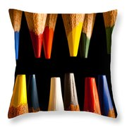 Painting Pencils Throw Pillow