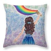 Painting Rainbow Throw Pillow