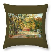 Painting The Fall Colors Throw Pillow