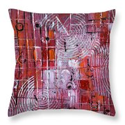 Painting The Town Red Throw Pillow