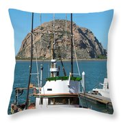 Painting The Trudy S Morro Bay Throw Pillow