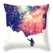 Painting The Universe Awsome Space Art Design Throw Pillow