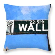 Painting Wall Street Throw Pillow