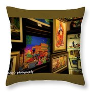 Paintings Collage Throw Pillow