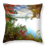 Paints Of Fall Throw Pillow