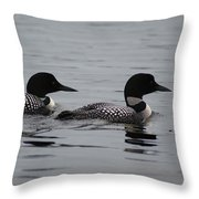 Pair Of Loons Throw Pillow