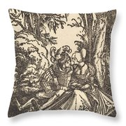 Pair Of Lovers In A Landscape Throw Pillow