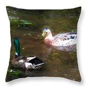 Pair Of Mallard Duck 10 Throw Pillow