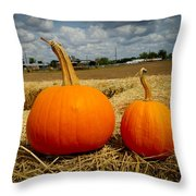 Pair Of Perfect Pumpkins Throw Pillow