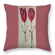 Pair Of Pinks Throw Pillow
