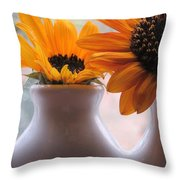 Pair Of Sunflowers Throw Pillow