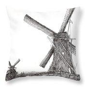 Pair Of Windmills 2016 Throw Pillow