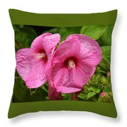 Paired In Pink Throw Pillow