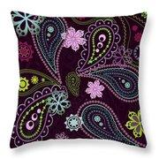 Paisley Abstract Design Throw Pillow