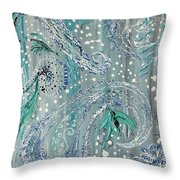 Paisley Trio 3 Throw Pillow