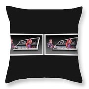 Pajama Night - Gently Cross Your Eyes And Focus On The Middle Image Throw Pillow by Brian Wallace