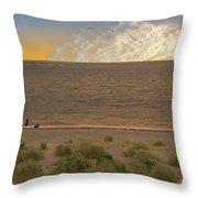 Pakefield Beach Sunset Throw Pillow
