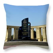 Pakistan Air Force Martyrs Monument Honoring Dead Pakistani Airmen At Paf Museum Karachi Pakistan Throw Pillow