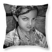 Pakistani Girl Throw Pillow