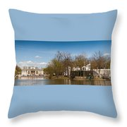 Palace In Royal Baths Park In Warsaw Throw Pillow