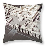 Palace At Khorsabad Throw Pillow