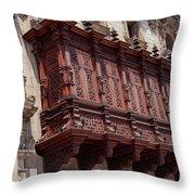 Palace Balcony Throw Pillow